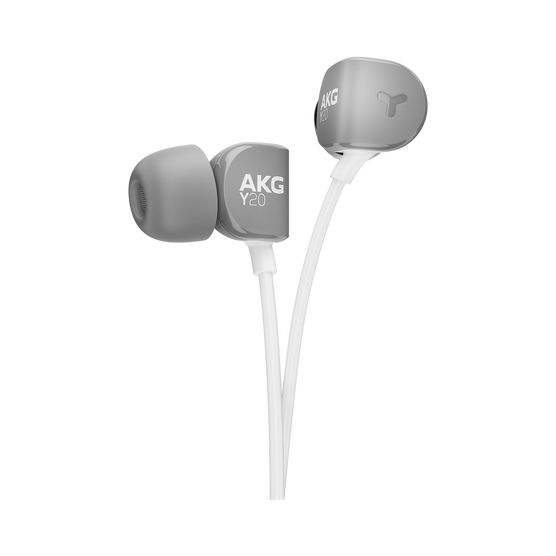 Y20U - Grey - Signature AKG in-ear stereo headphone that takes your calls - Detailshot 1