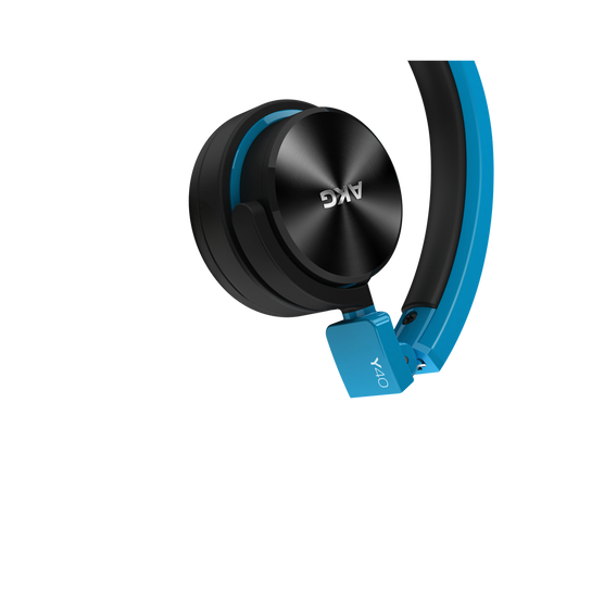 Y40 - Blue - High-performance foldable headphones with universal in-line microphone and remote - Detailshot 1