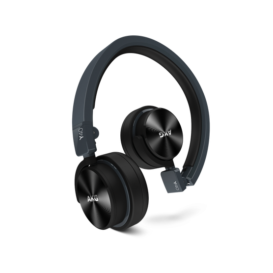 Y40 - Black - High-performance foldable headphones with universal in-line microphone and remote - Hero