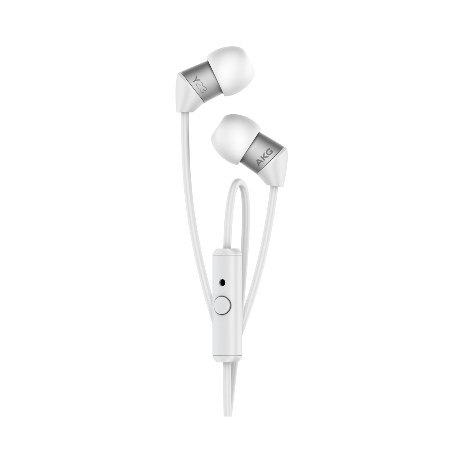 Y23U - White - The smallest in-ear headphones with universal remote and microphone - Detailshot 2