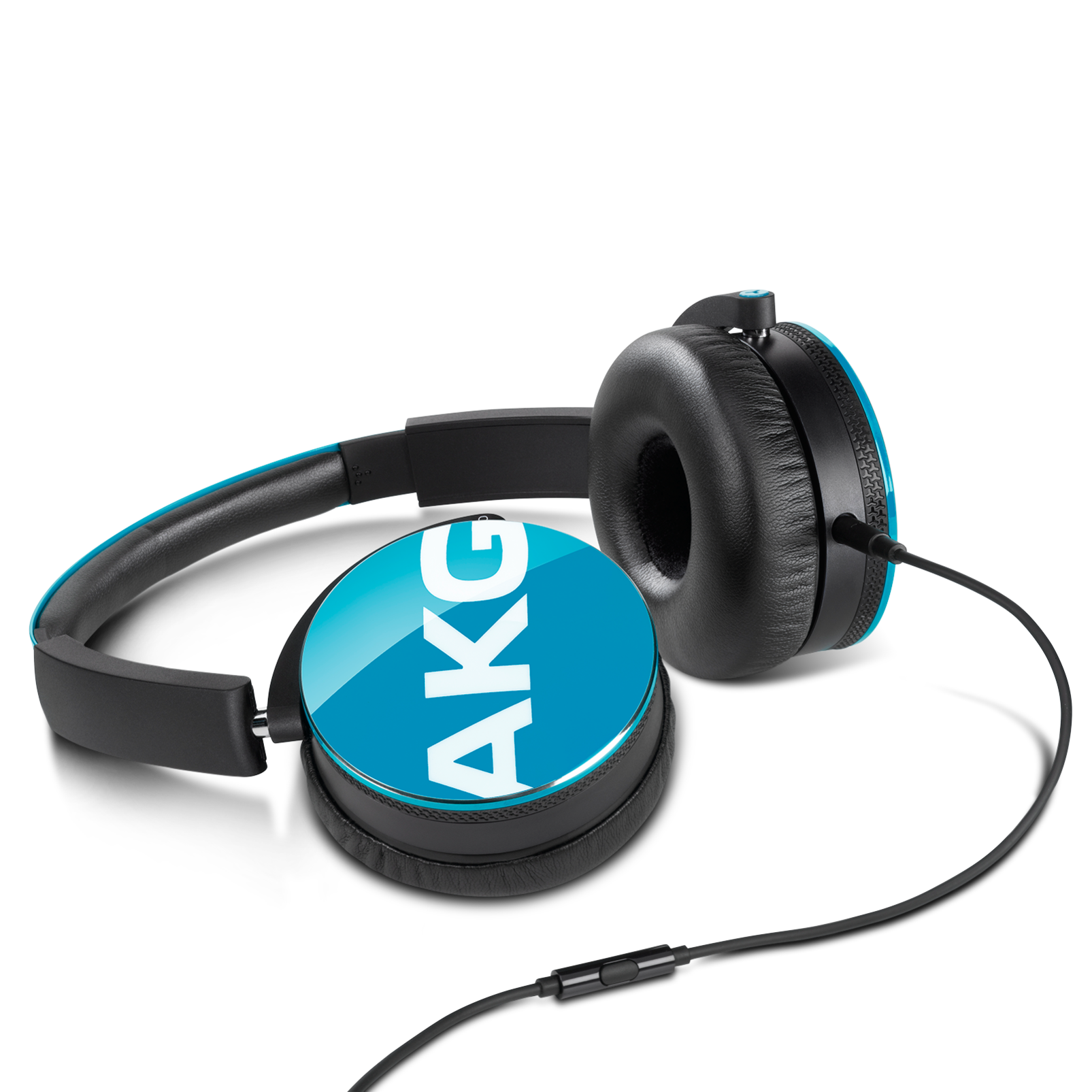 Y50 - Blue - On-ear headphones with AKG-quality sound, smart styling, snug fit and detachable cable with in-line remote/mic - Detailshot 2