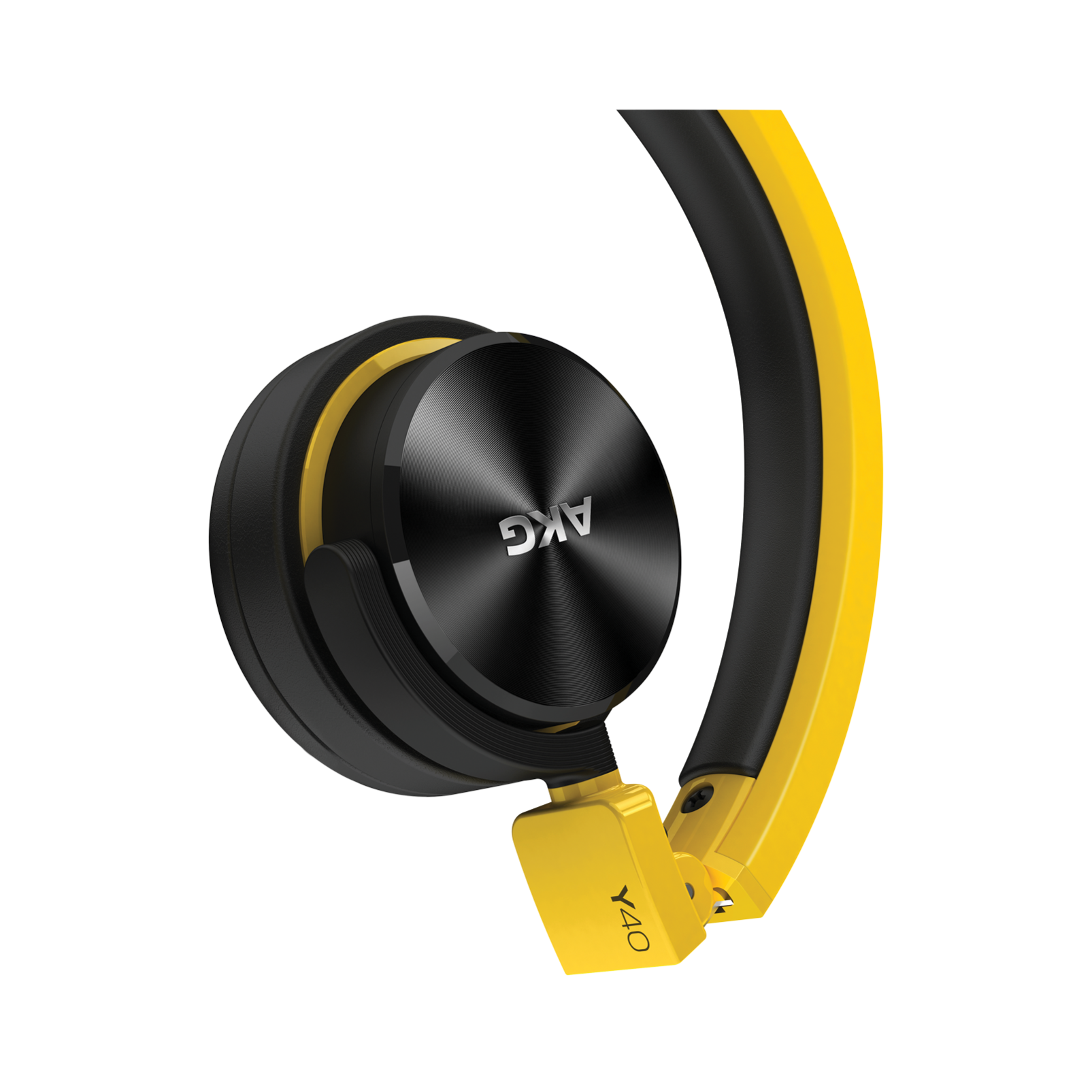 Y40 - Yellow - High-performance foldable headphones with universal in-line microphone and remote - Detailshot 2